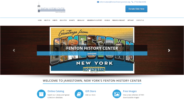 Fenton History Center - Jamestown, NY  14701